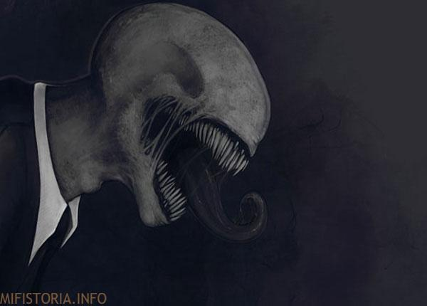Слендермен - мифы, рисунок на mifistoria.info