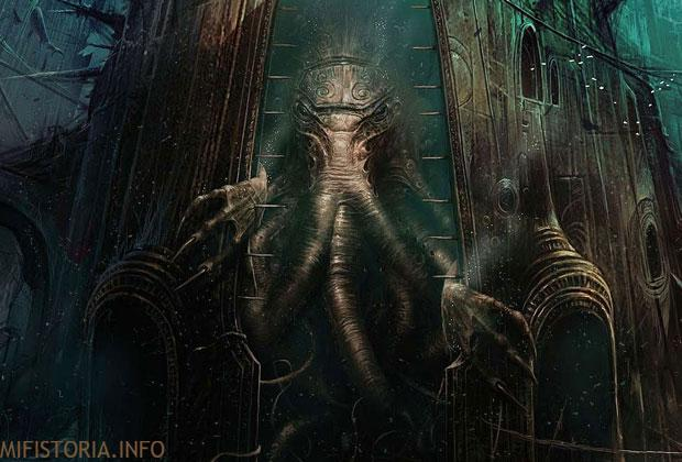 Ктулху пробуждается - рисунок на mifistoria.info