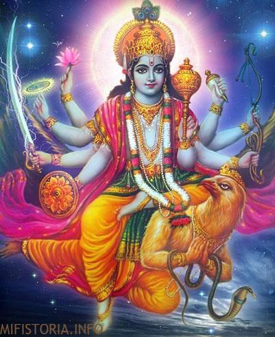Бог Виншу - изображение, индийская мифология на mifistoria.info