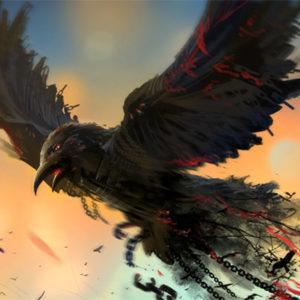 Черный ворон - рисунок на mifistoria.info