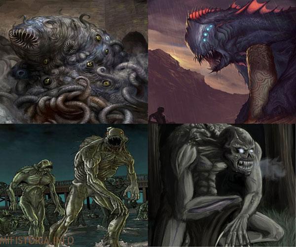 Существа из Некрономикона - рисунок на mifistoria.info