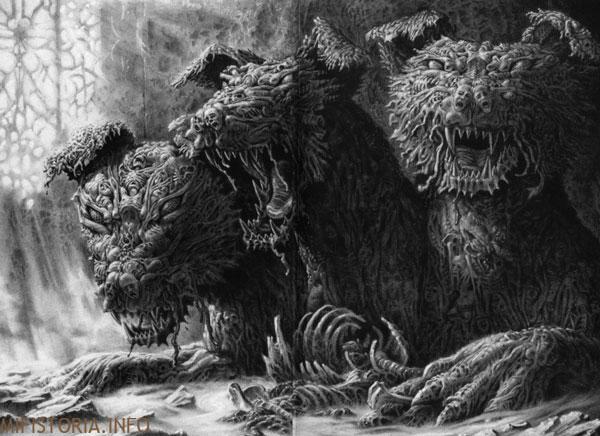 Цербер, ужасный - рисунок на mifistoria.info