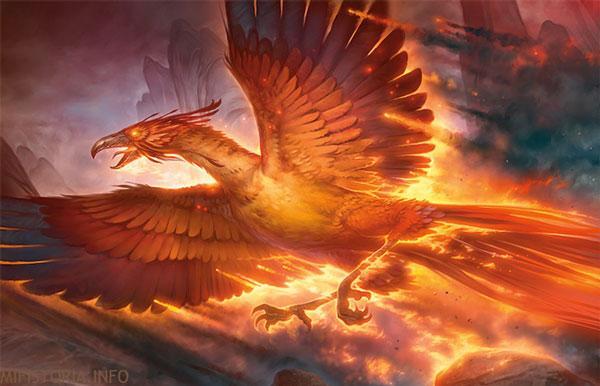 Feniks, огненная птица - рисунок на mifistoria.info