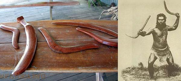 Австралийское метательное оружие - фото на mifistoria.info