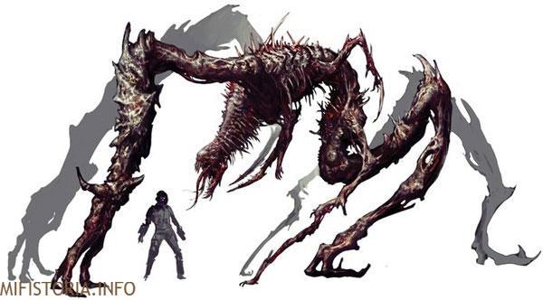 Dead Space, монстр - рисунок на mifistoria.info