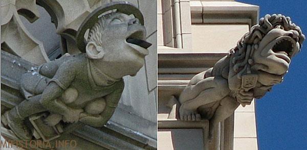Горгульи собора Вашингтона - фото на mifistoria.info