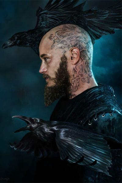 Викинг и вороны