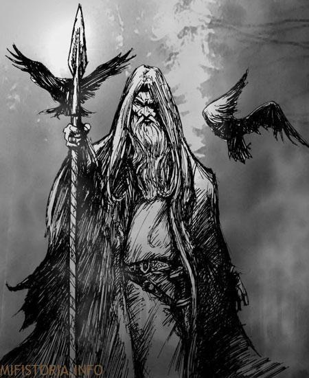 Скандинавский бог Один - рисунок на mifistoria.info
