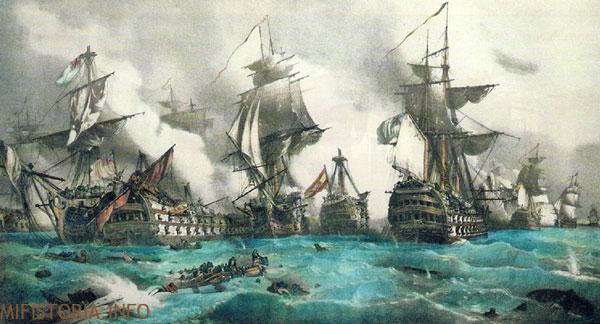 Битва при Трафальгар - картина на mifistoria.info