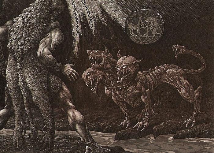 Геракл встречается с Цербером