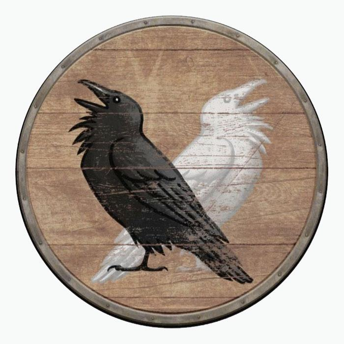 Щит с изображением воронов