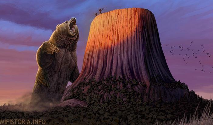 Легенда о медведе - рисунок на mifistoria.info