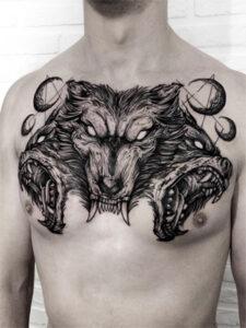 татуировка цербера