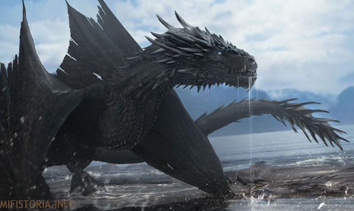 Дракон из Игры престолов - рисунок на mifistoria.info