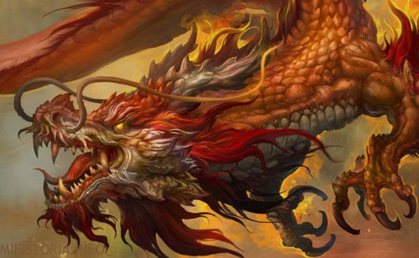 Китайский дракон - изображение на mifistoria.info