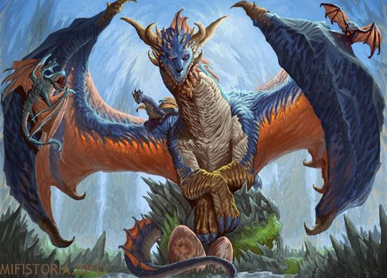 Синий дракон - картинка на mifistoria.info