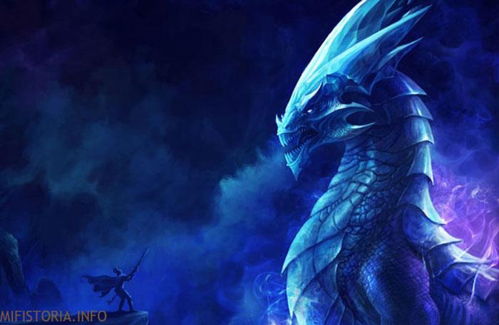 Сапфировый дракон - изображение на mifistoria.info