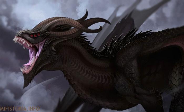 Теневой дракон - изображение на mifistoria.info