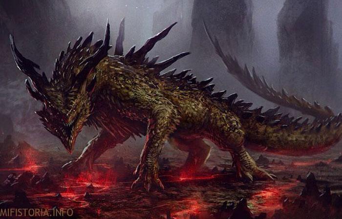 Дракон без крыльев - рисунок на mifistoria.info