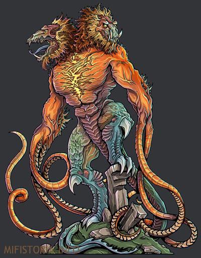 Демогоргон из настольной игры - рисунок на mifistoria.info