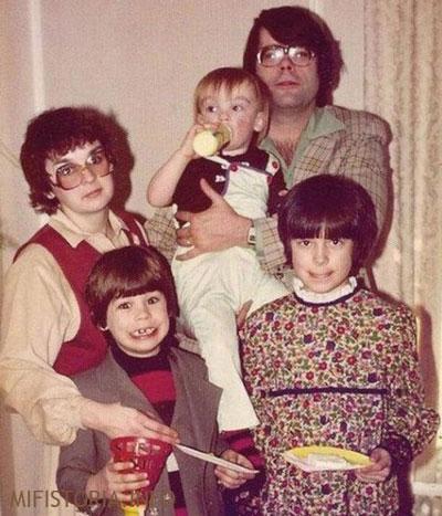 Семья Стивена Кинга - фото на mifistoria.info