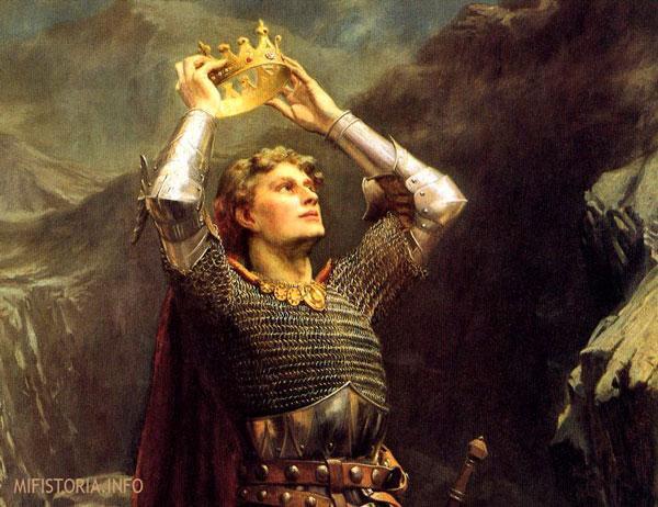 Артур надевает свою корону - картинка на mifistoria.info