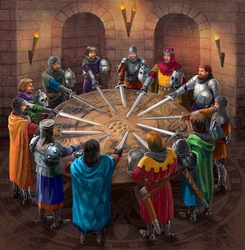 Рыцари за круглым столом - картинка