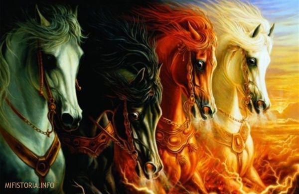 Четыре коня Апокалипсиса - фото на сайте mifistoria.info