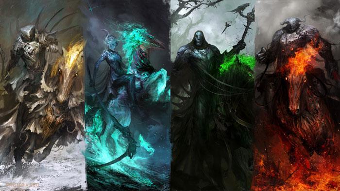 4 всадника Апокалипсиса - картинка на сайте mifistoria.info