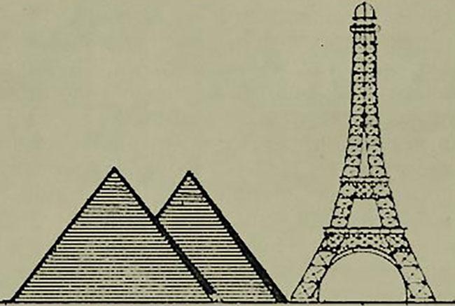 Пирамиды и Эйфелева башня