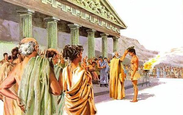 Лавровый венок одевают победителю Пифийских игр