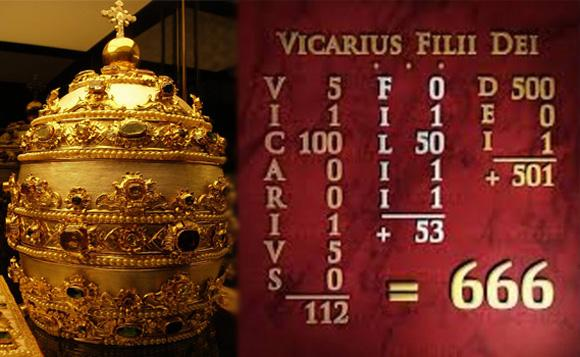 Папская тиара «Vicarius Filii Dei» и подсчет цифр - картинка на mifistoria.info