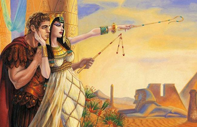 Гай Юлий Цезарь и Клеопатра