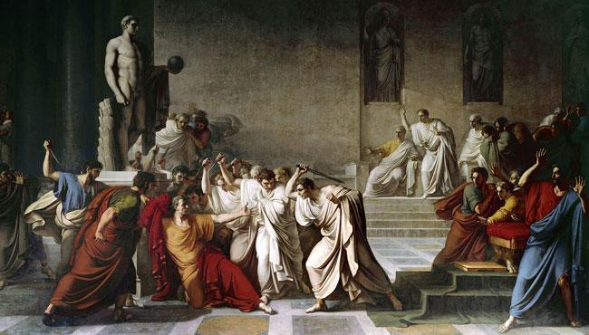 «Смерть Юлия Цезаря.» Винченцо Камуччини, холст, масло. 1798 г.