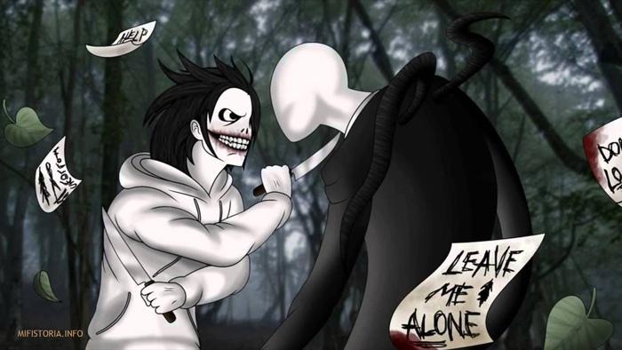 Убийца Джефф против Слендермена - картинка на mifistoria.info