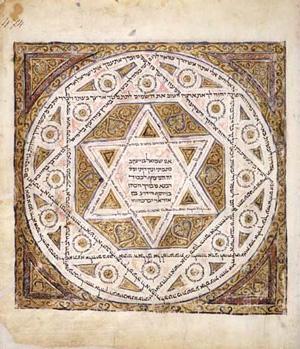 Щит Давида на древнейшей из сохранившихся копий Торы