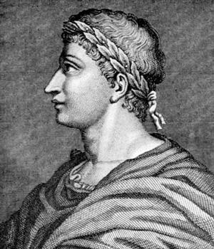 Овидий, увенчанный лавровым венком