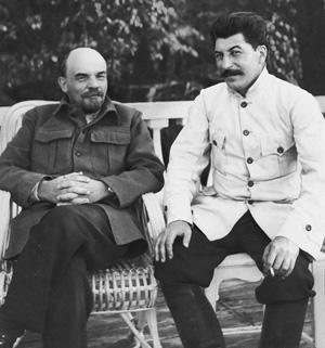 Совместное фото Ленина и Сталина