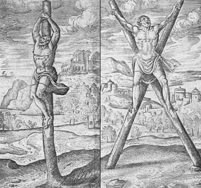 Распятие в виде столба и Х-образного креста
