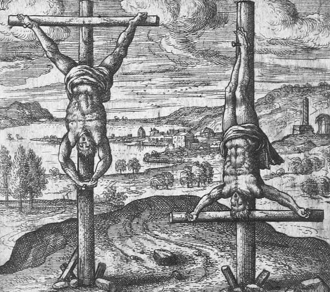 Варианты казни вверх ногами