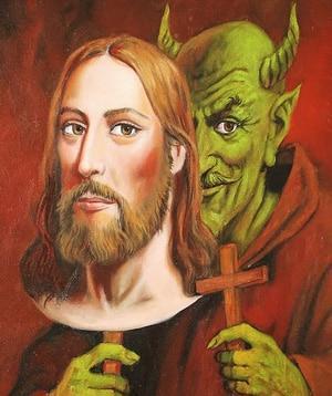 Антихрист скрывающийся за маской Христа