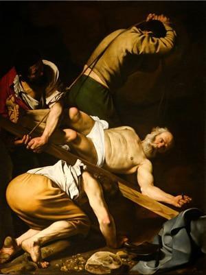 Микеланджело Меризи да Караваджо «Распятие Святого Петра»
