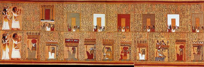 Заклинания на папирусе Ани