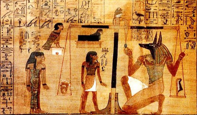 Сцена Великого суда на папирусе Ани