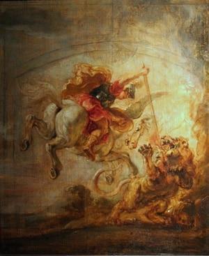 Питер Пауль Рубенс «Беллерофонт верхом на Пегасе, сражающийся с Химерой»