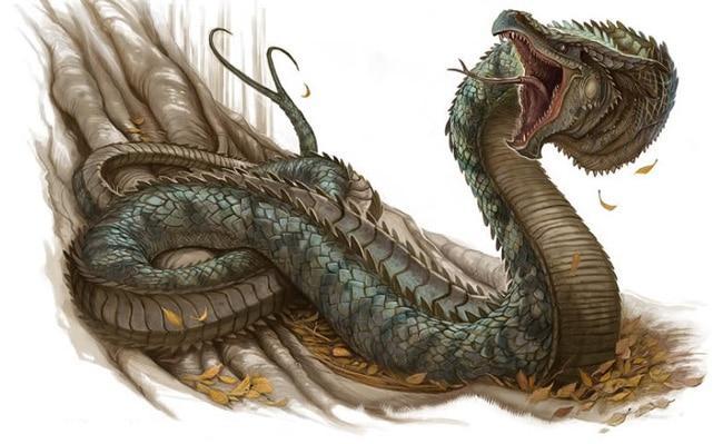 Образ змея-чудовища