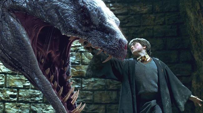 Гарри Поттер убивает василиска