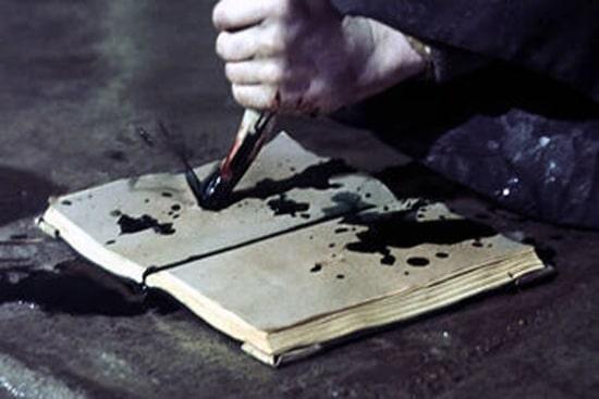 Уничтожение одного из крестражей клыком василиска