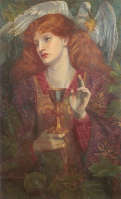 Картина «Святой Грааль», Данте Габриэль Россетти.