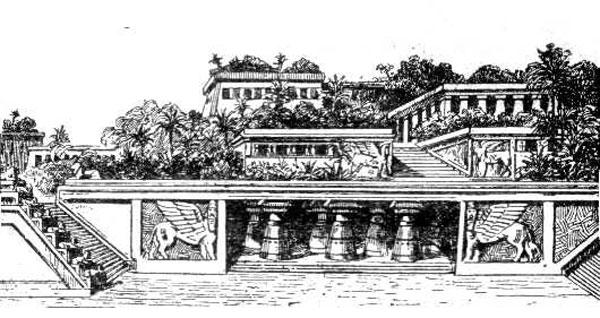 Cады Cемирамиды - реконструкция, начало 20 века.